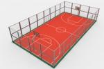 Торжественное открытие баскетбольной площадки